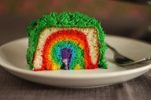 Cake with Rainbow Inside